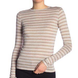 Vince Heathered Stripe Long Sleeve T-Shirt  4.5  (